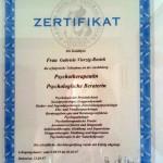 Gabriele Vierzig-Rostek Zertifikat Psychologische Beraterin