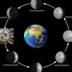 Mondphasen Neumond links