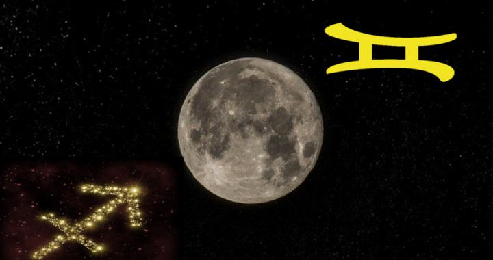 Dezember Vollmond 2019 mit Zwillinge Mond - Bild