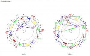Widder Neumond 2020 Radix und Haeuser Horoskop