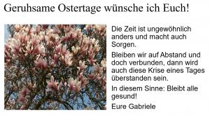 Oster-Gruß 2020 von Gabriele