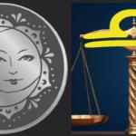 Waage und Neumond Symbol