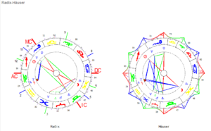 November Vollmond 2020 Radix und Häuser Horoskop Grafik