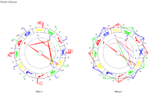 Januar Vollmond 2021 Radix und Haeuser Horoskop Grafiken